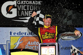 Bowyer celebrates a win at Richmond