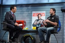 Mike Massaro interviews Tony Stewart on ESPN