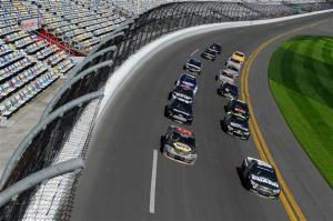 Dale Earnhardt leads a pack of cars at DaytonaPhoto - Jared Tilton/Getty Images