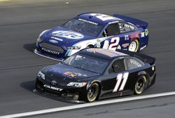 Drivers Denny Hamlin (11) and Brad Keselowski (2) test the G6 car during December's two-day test session at Charlotte Motor Speedway Photo - CMS/HHPPhoto