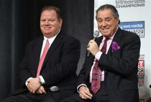 Chip Ganassi Racing Team owners, Chip Ganassi and Felix Sabates  Jan 23, 2013 Media TourPhoto - Streeter Lecka/Getty Images