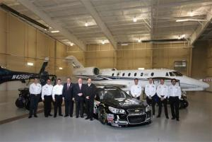 The Earnhardt Ganassi Racing team with Cessna Aircraft during 2013 Media Tour Jan 23, 2013Photo - Streeter Lecka/Getty Images