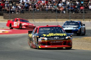 Clint Bowyer leads the Toyota Save Mart 350 at Sonoma in June 2012Photo - Ezra Shaw/Getty Images
