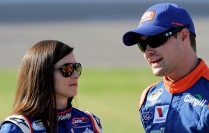 Danica Patrick and Ricky Stenhouse Jr at Texas Motor Speedway in Nov 2012 Photo - Jerry Markland/Getty Images