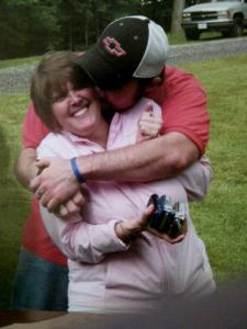 "Jay Havens with his mom, Beth. She inspired Jay's foundation ""Wrecking the Cause"""