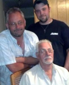 Jay Havens (right) with his Dad, Mike (left) and Popa, Richard (center)