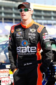 Jeb Burton at Kansas Speedway in April 2012Photo - Geoff Burke/Getty Images