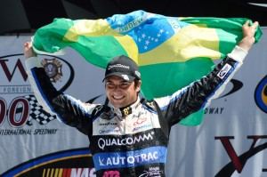 Nelson Piquet Jr on Aug 18, 2012 after winning at MichiganPhoto - Jared C Tilton/Getty Images