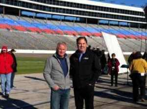 Ricky Rudd (left) Stands with Texas Motor Speedway president, Eddie Gossage (right)